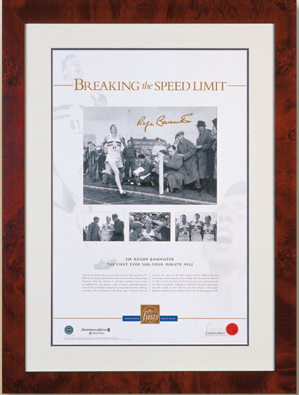 Other Sport Breaking The Speed Limit - Roger Bannister signed
