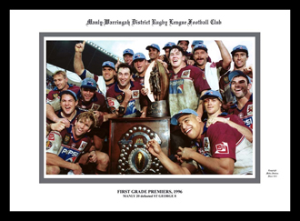 Manly Sea Eagles 1996 Manly on Grand Final Dias