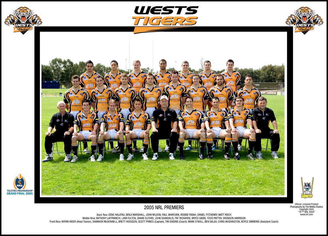 Wests Tigers 2005 Grand Final Team