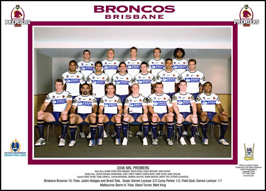 Brisbane Broncos 2006 Brisbane Broncos Team Photo