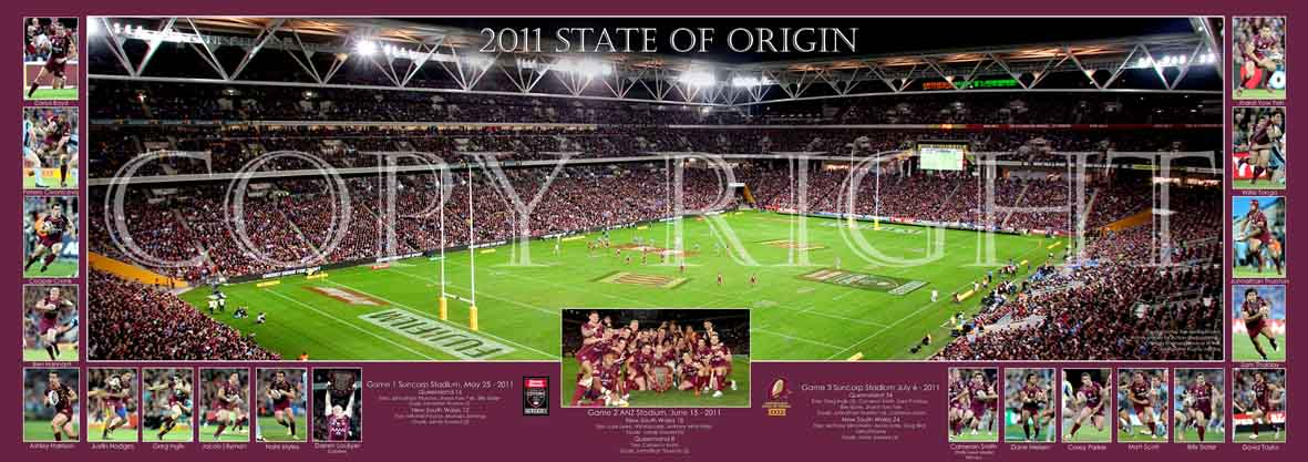 State of Origin 2011 Framed and Signed by Cam Smith