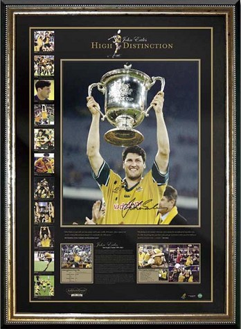 Rugby Union John Eales signed 'High Distinction' lithograph
