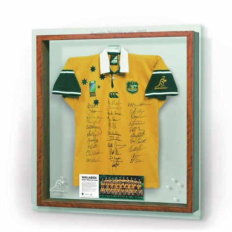 Rugby Union 2003 Wallabies Rugby World Cup team signed Jersey