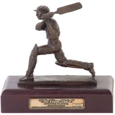 Cricket Donald Bradman - The Cover Drive - Bronze
