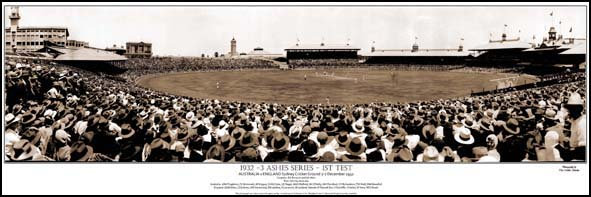 Cricket 1932-33 Ashes panoramic