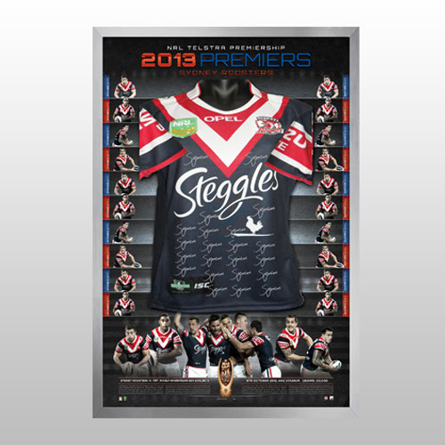 Sydney City Roosters 2013 Roosters Grand Final Signed Jersey