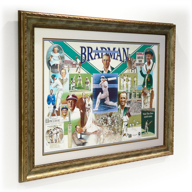 Cricket Sir Donald Bradman signed 'First Last Always'