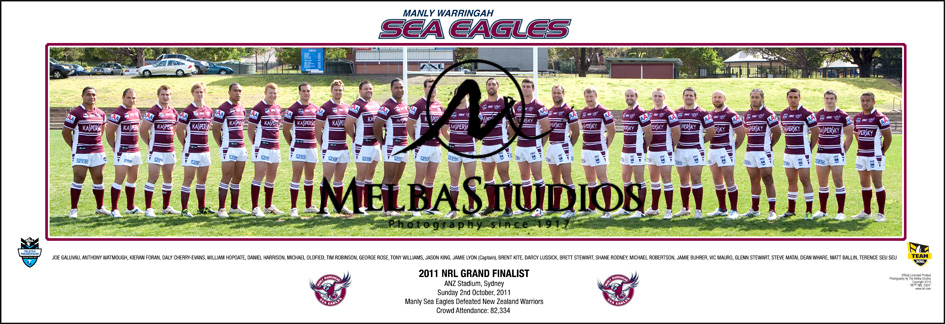 Manly Sea Eagles 2011 Manly Team Panoramic