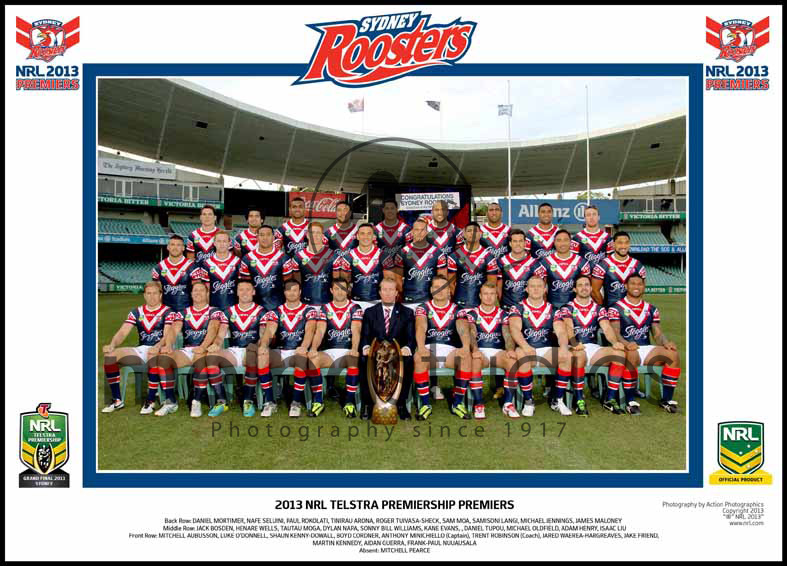 Sydney City Roosters 2013 Roosters Grand Final Team Photo
