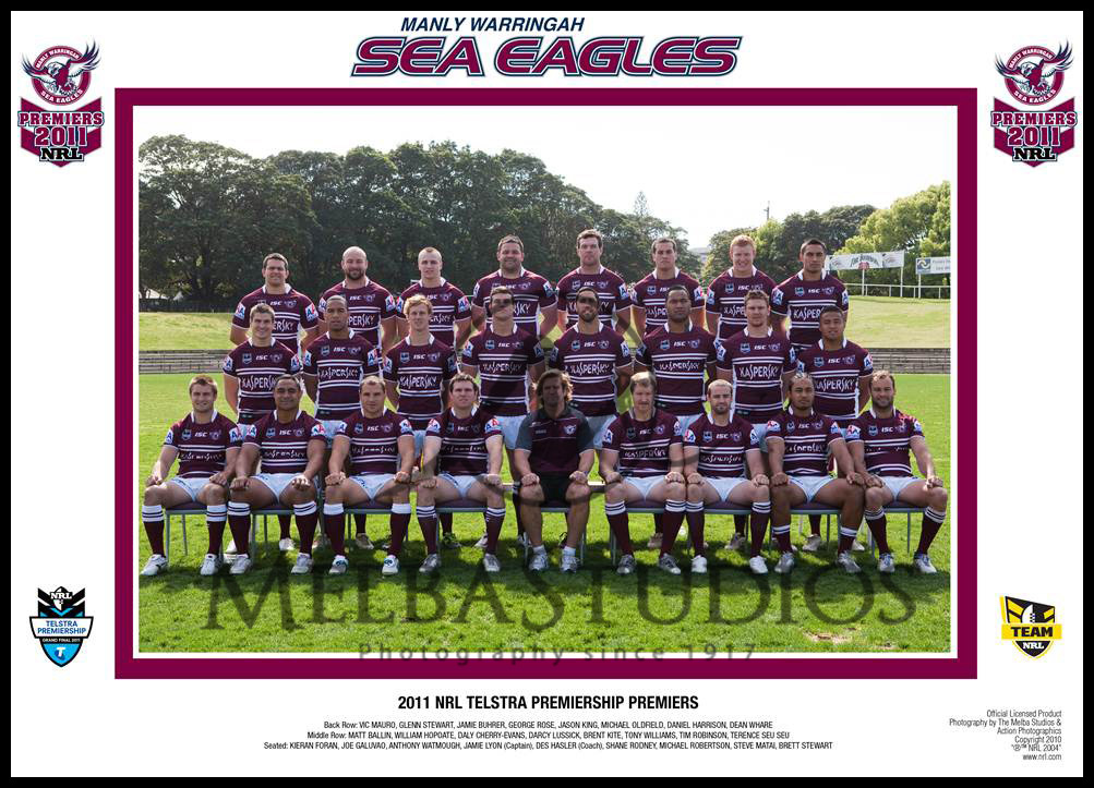 Manly Sea Eagles 2011 Manly Team
